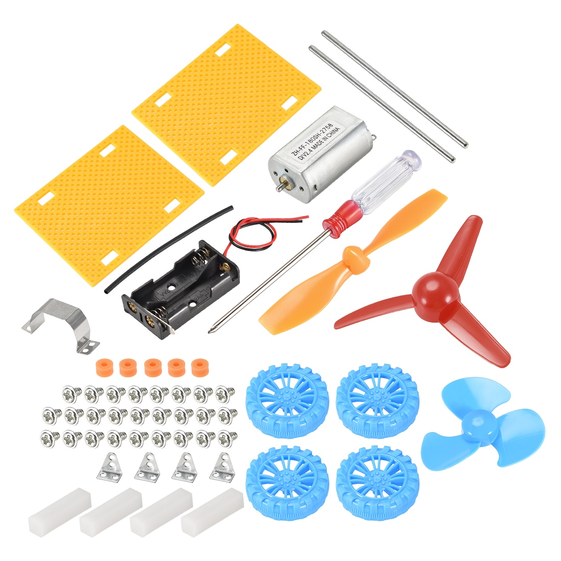 Uxcell DIY Мини Мотор электрические наборы физика электрические цепи