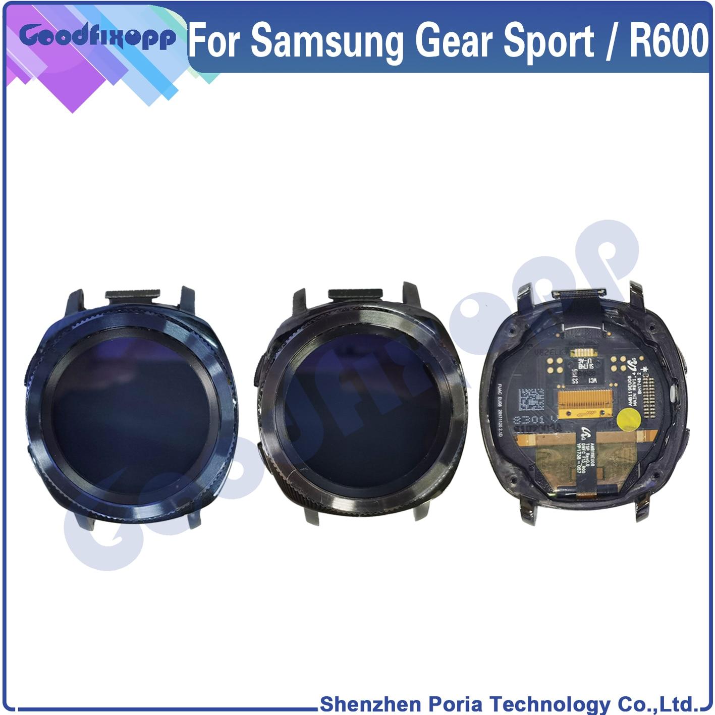 100% اختبار AAA لسامسونج جير الرياضة R600 SM-R600 شاشة LCD تعمل باللمس محول الأرقام الجمعية مع الإطار