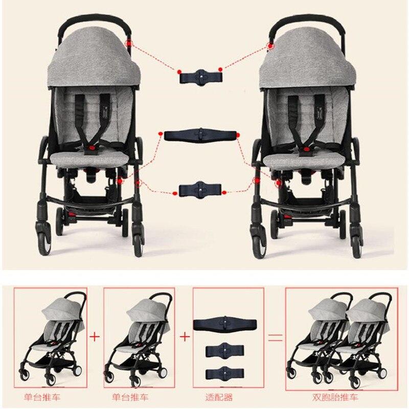 3 шт., соединительная муфта для коляски Yoya, соединительный соединитель, Linker делает 2 коляски в двухканальные коляски для коляски Babyzen Yoyo