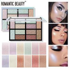 12 couleurs correcteur surligneur maquillage poudre pressée surbrillance Palette éclaircir le ton de la peau Contour du visage Bronze cosmétique TSLM2