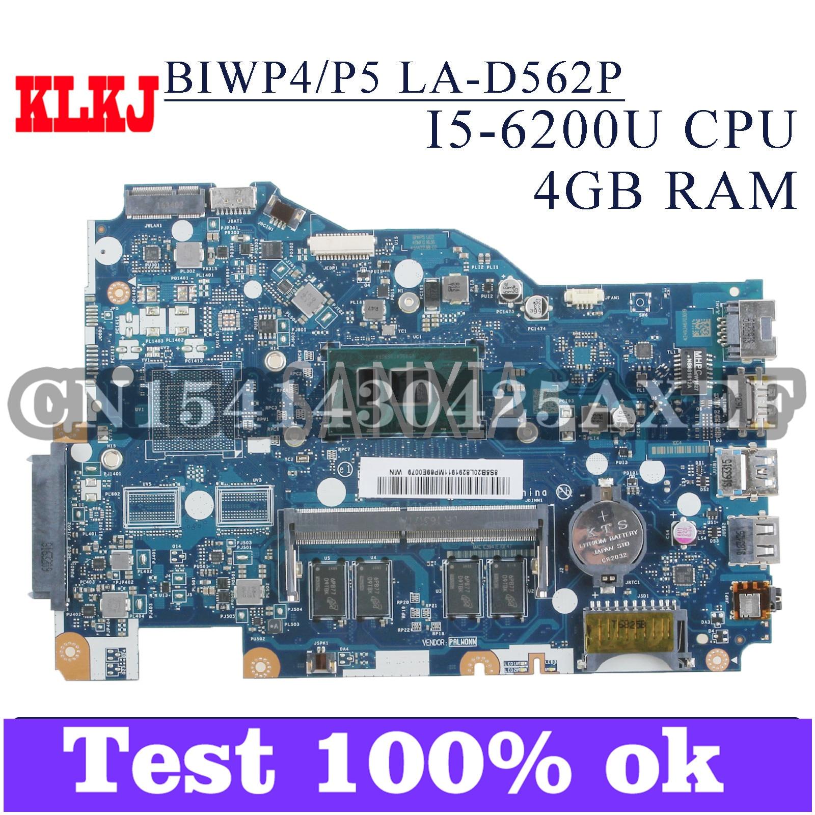 KLKJ LA-D562P اللوحة الرئيسية Laotop لينوفو Ideapad 110-15ISK اللوحة الرئيسية الأصلية 4G-RAM I5-6200U