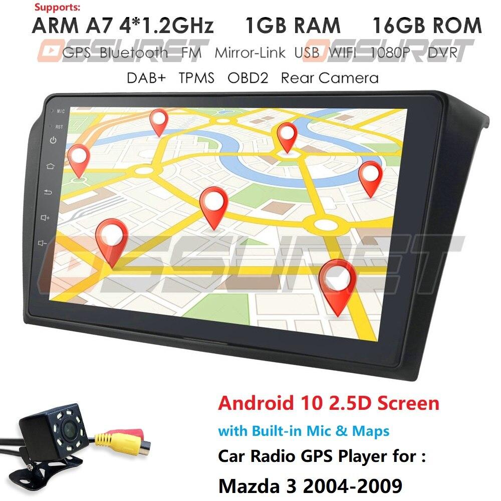 For Mazda 3 2004-2013 maxx axela android 9 Car NODVD GPS Radio Stereo 1G 16G WIFI Free MAP Quad Core 2 din Car Multimedia Player