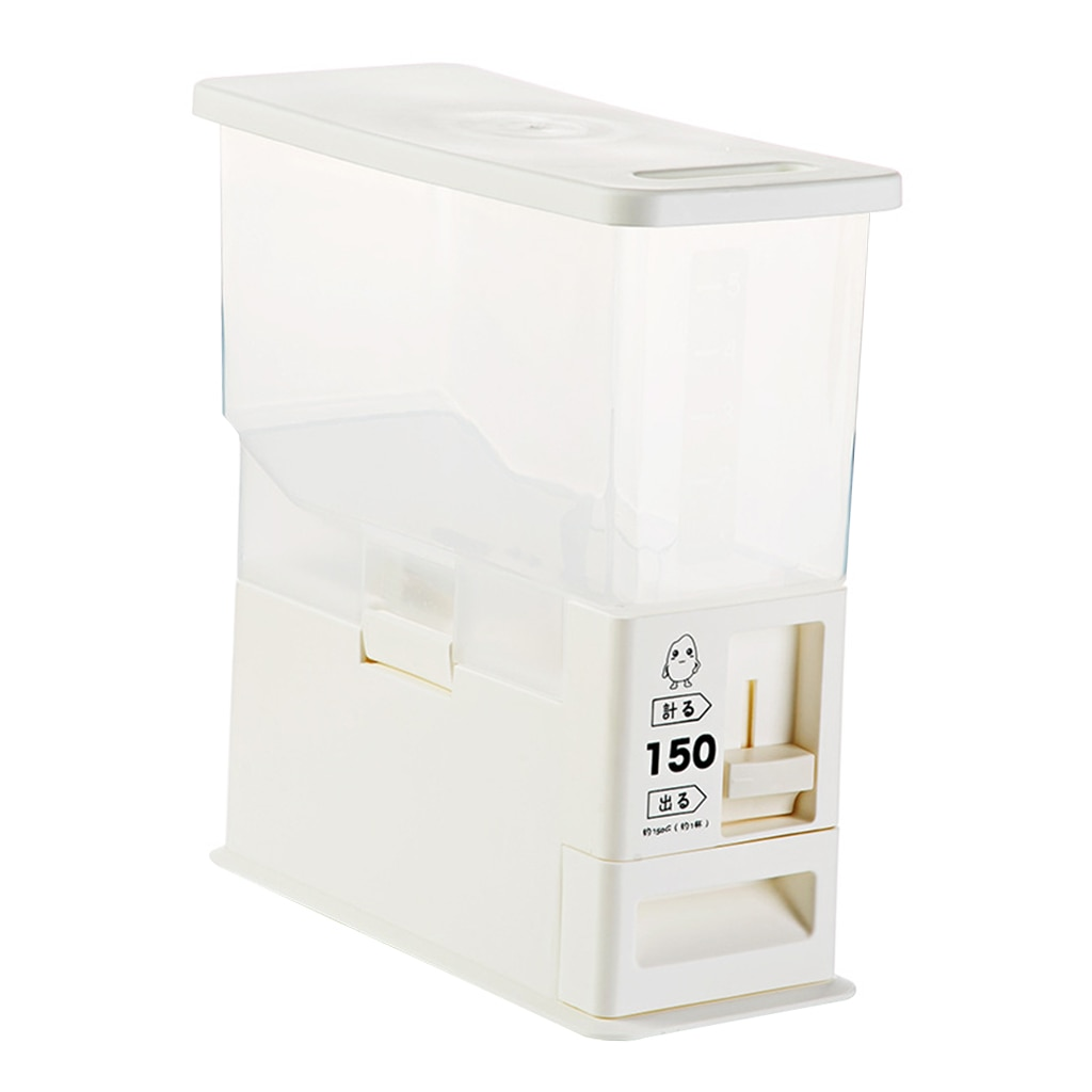 Dispensador de arroz de plástico de 5L, recipientes para el hogar para encimera de cocina