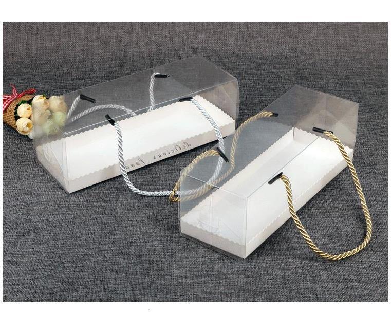 ¿Cajas Transparentes Para Tortas 100 Uds? Embalaje Con Asa Caja De Regalo...