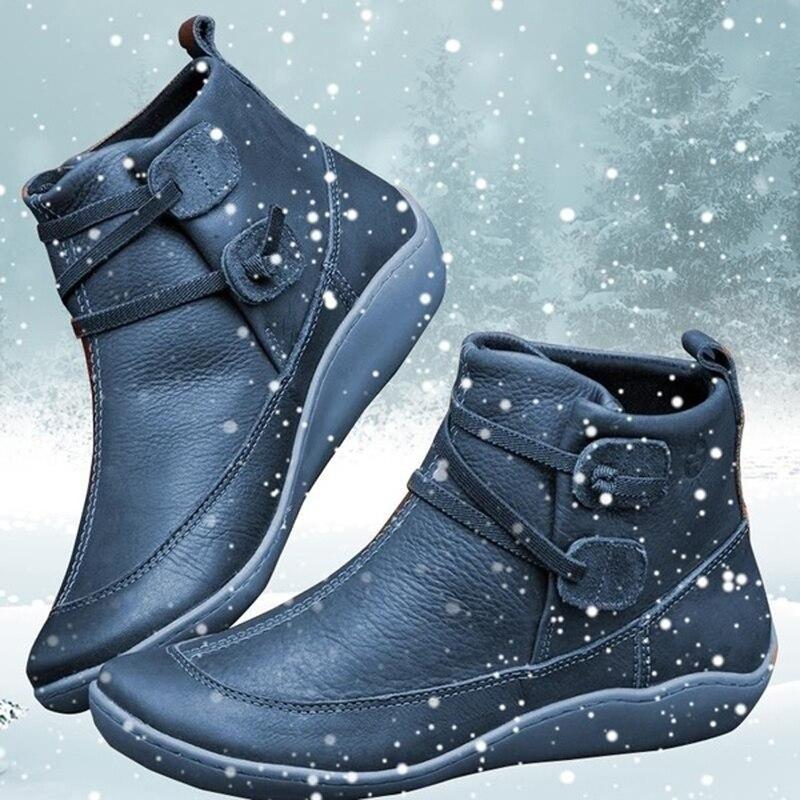 Mulheres inverno cruz cinta do vintage curto de pelúcia punk botas planas senhoras sapatos mulher quente botas de couro do plutônio botas de tornozelo