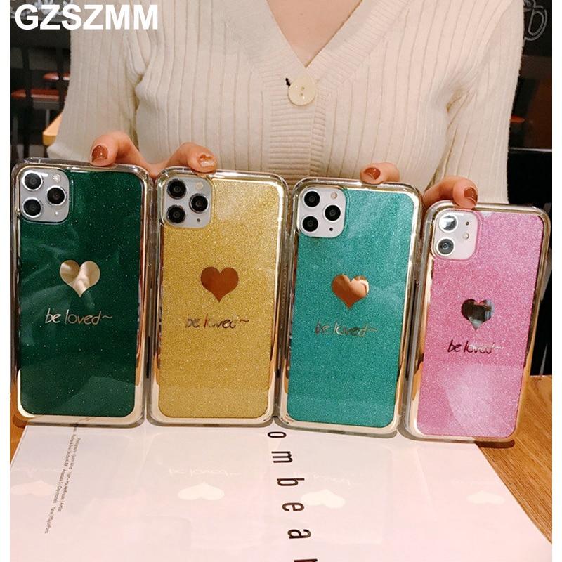 Fundas de teléfono de lujo con purpurina y corazón para Huawei Mate 30 20 P30 P20 Pro Nova 6 5i Pro 5 4 3 Honor 8X 9X Pro, funda protectora Etui