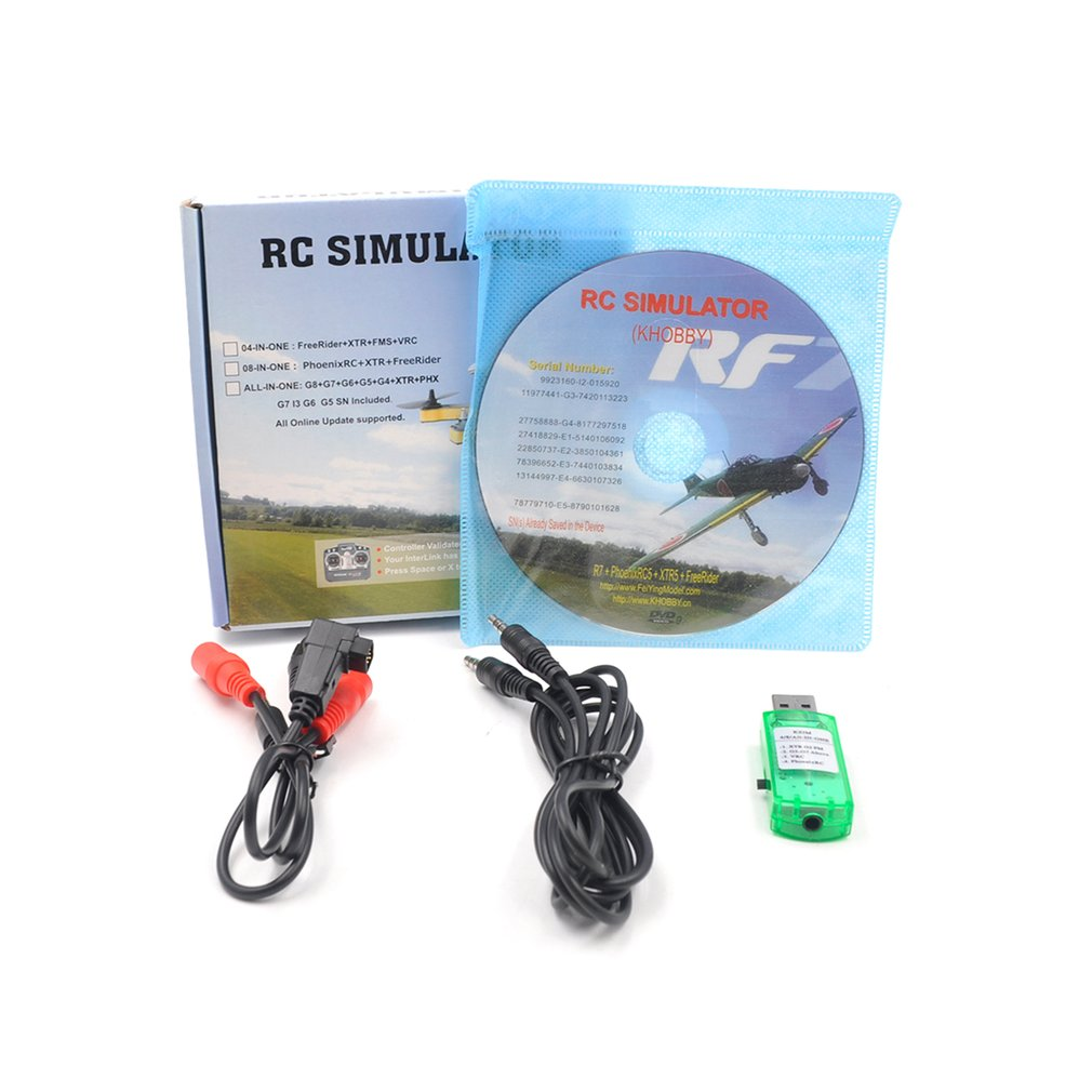 Rc Simulator Wireless Cable 20In1 Flight Simulator Cable Usb Dongle For Rc Helicopter Aeroplane Car Toys