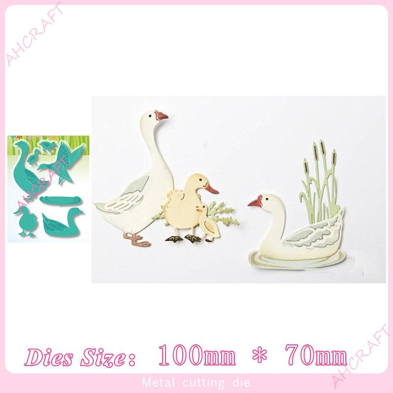 Petit canard et grande oie matrices de découpe en métal pour bricolage Scrapbooking Album Photo décoratif gaufrage PaperCard artisanat Die2020