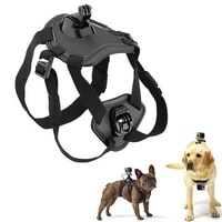 adjustable dog harness pet harness vest chest mount for gopro hero dogs outdoor travel sports camcorder cases pet accessories