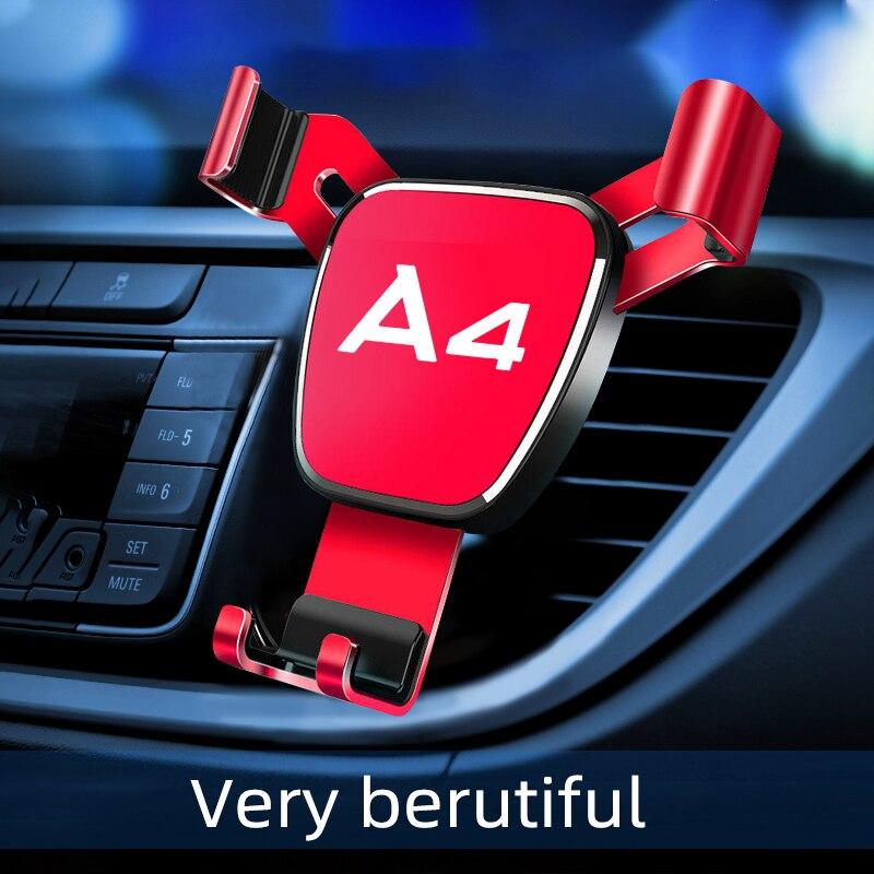Автомобильный воздушный выход-держатель для Audi A4 мобильный телефон 1 шт./компл. автомобильный брелок с логотипом, автомобильный навигатор п...