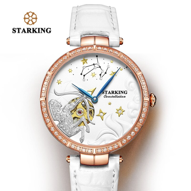 STARKING Women Watch 2020 Brand Luxury Leather Sagittarius Constellation Lady Watch Fashion Casual Simple Wristwatch Clock Women enlarge