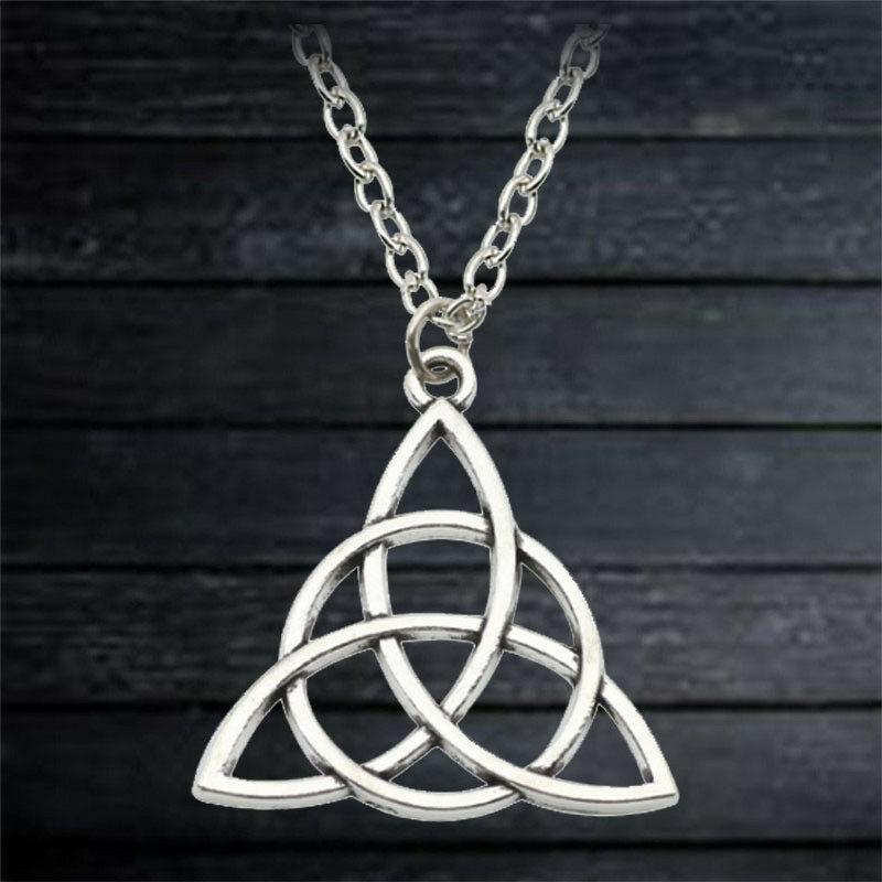 Triquetra подвеска, кельтская символ ювелирные изделия тройной узел ожерелье талисман Знак