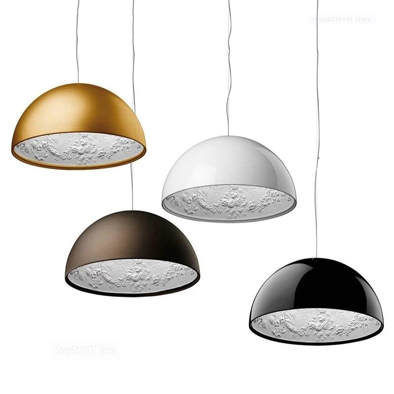 SKYGARDEN-مصباح معلق LED حديث من الراتنج ، تصميم إسكندنافي ، إضاءة زخرفية داخلية ، مثالي لغرفة المعيشة أو غرفة الطعام.