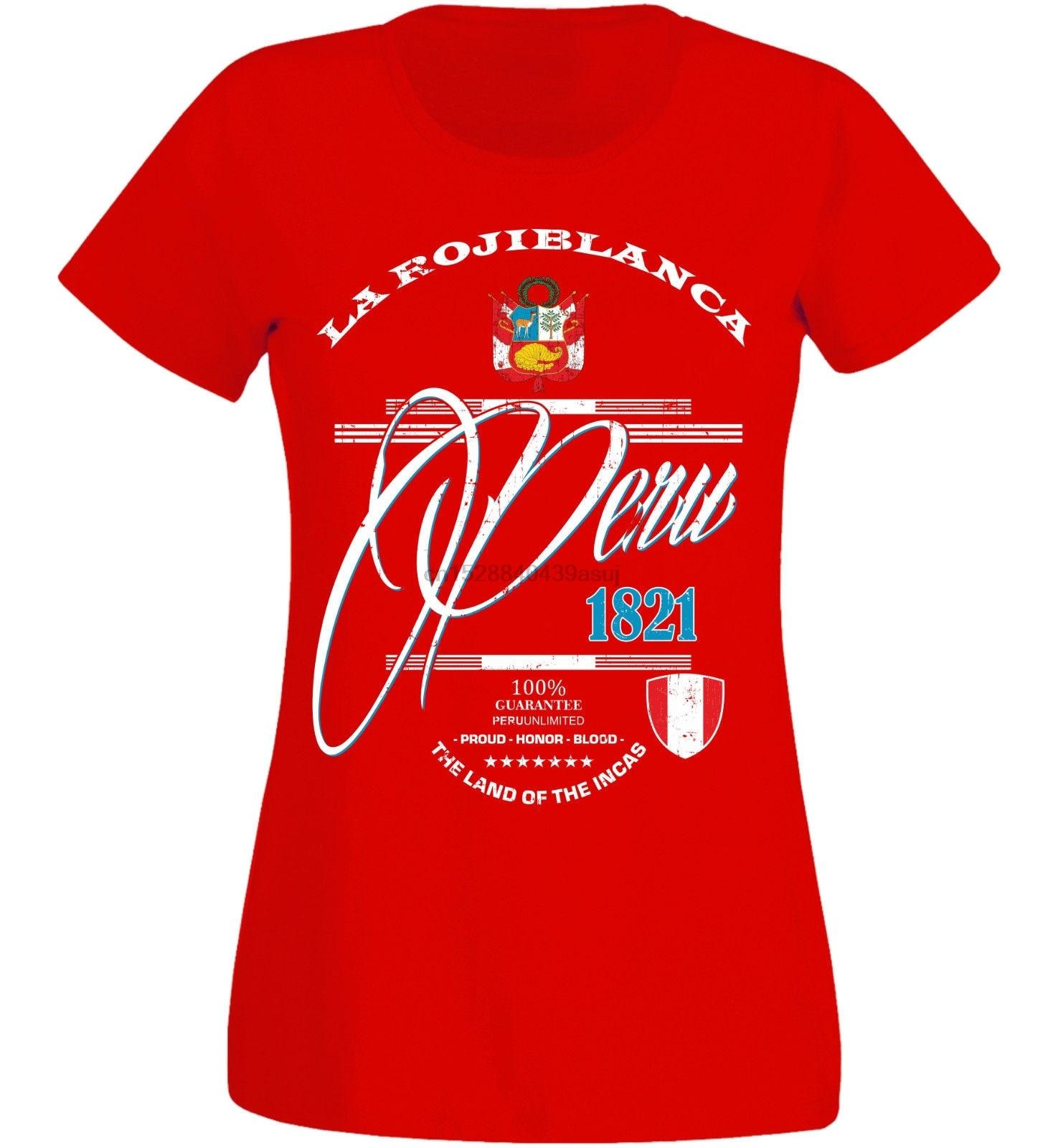 Women T Shirt 2019 Fashion Print Tee  Short Sleeve Clothing  Peru Women Footballer superwomen T Shirt
