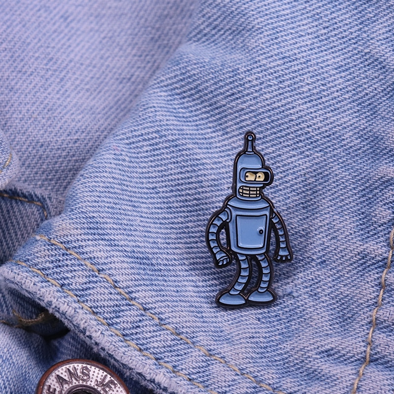 Bender Bending Rodriguez Broche Amerikaanse Animatie Van Comedy Emaille Pin Grappige Robot Accessoire