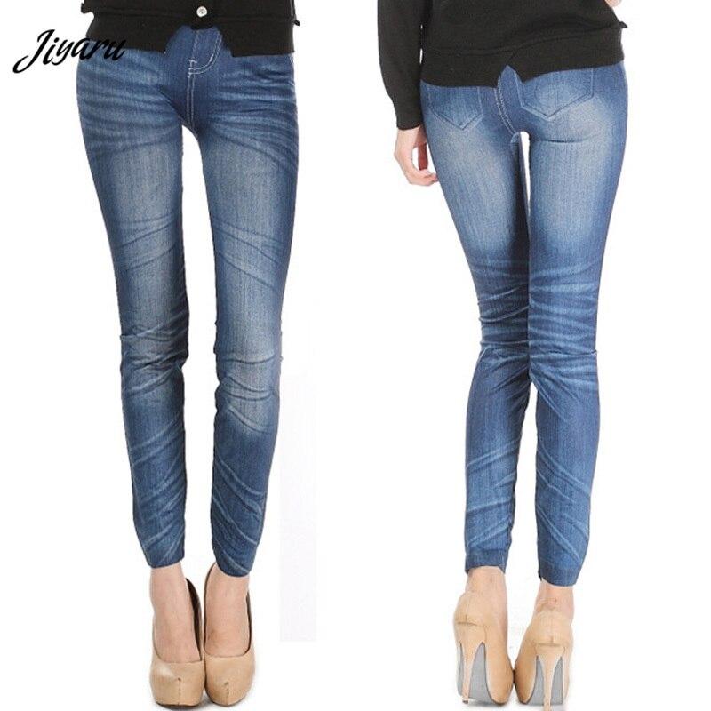Cómodos pantalones ajustados Denim Leggings moda mujer Sexy Jean Skinny Leggings Stretchy Slim Leggings