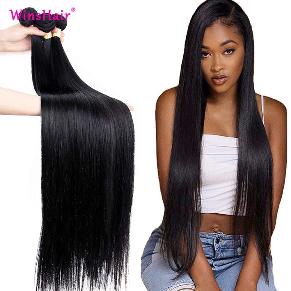 Winshair Straight Human Hair Bundles 30 Inch Bundles In Stock Deal 100% Remy Straight Hair Bundles P