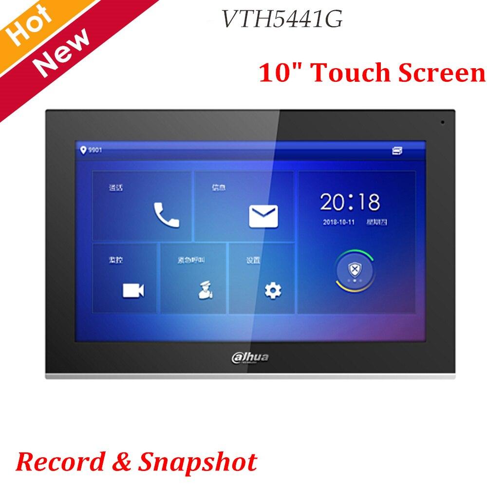 """Новейший Dahua видеодомофоны VTH5441G цифровой VTH 10 """"TFT сенсорный экран записи и оснастки IPC сигнализация наблюдения Замена VTH1660CH"""