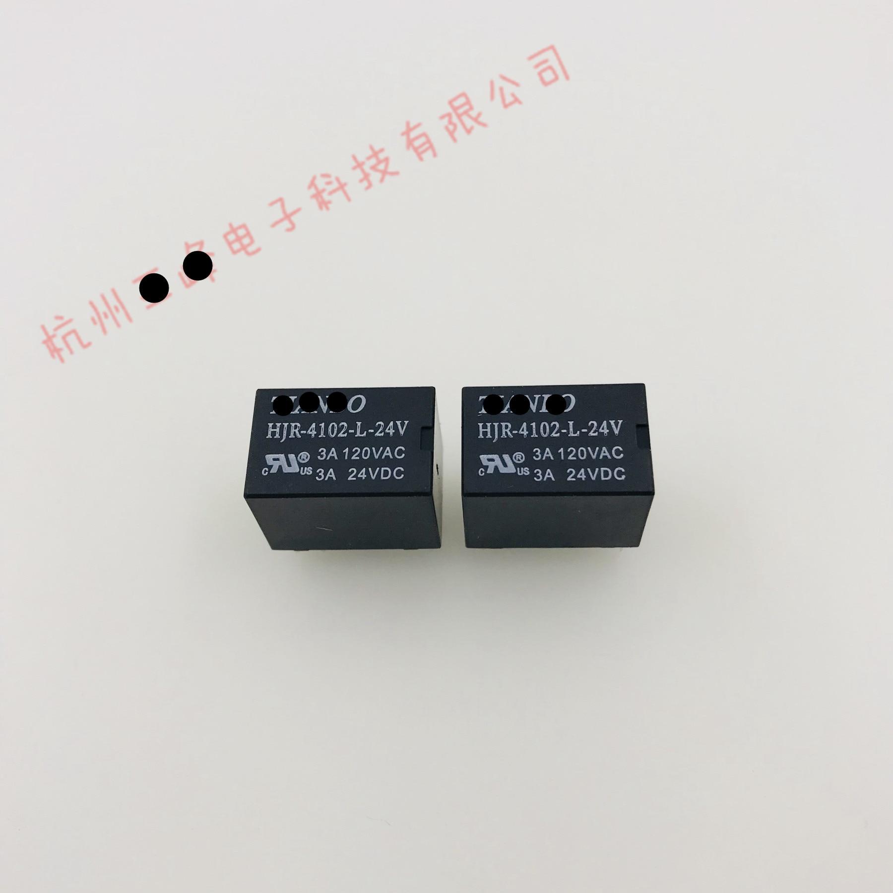 (10 peça) HJR-4102-L-05V HJR-4102-L-12V HJR-4102-L-24V 6 pinos 3a relé de sinal novo
