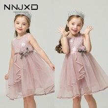 3 Year Birthday Dress For Girls Wedding Dresses Summer Flower Ball Gown Formal Party Costume Sweet Sleeveless Mesh Tutu Dress