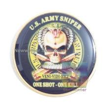 Eine probe Vereinigten Staaten Schädel Sniper Polizei Militärische Armee Sterben Müde USA Herausforderung Münzen Sammeln