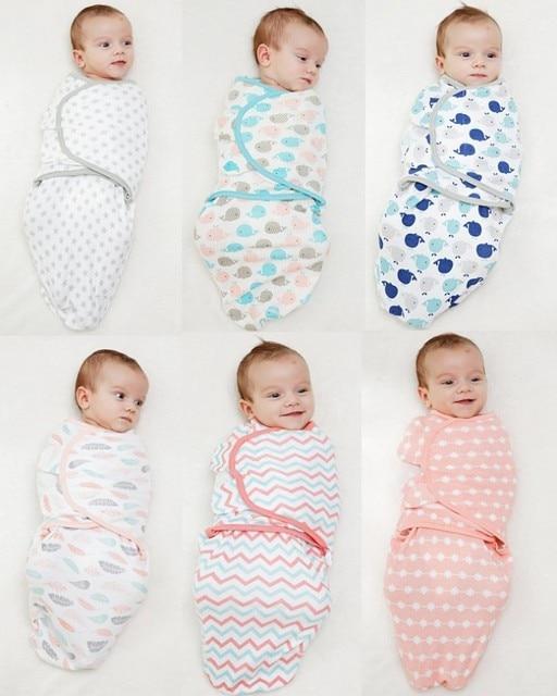 Baby blankets swaddle wrap towel 100% cotton soft Infant sleeping bag anti-shock newborn quilt Bath Towel Baby Bedding Accessori