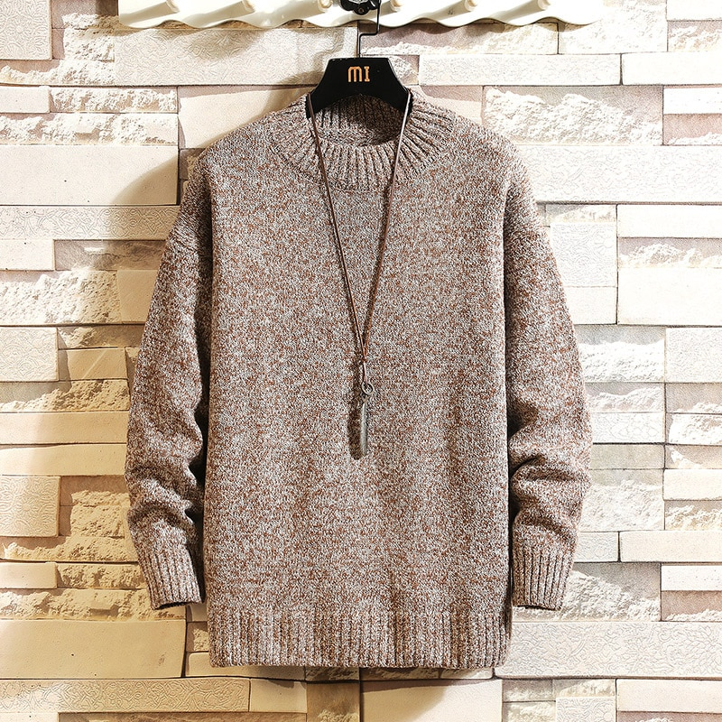Knitted Sweaters Pullover Men's Long Sleeves Autumn O-Neck Sweater Jumpers High Quality Classic Homme Tops Male Clothes 5XL mens sweaters new classic simplicity pullover o neck sweater men long sleeves grey black teenagers sweaters