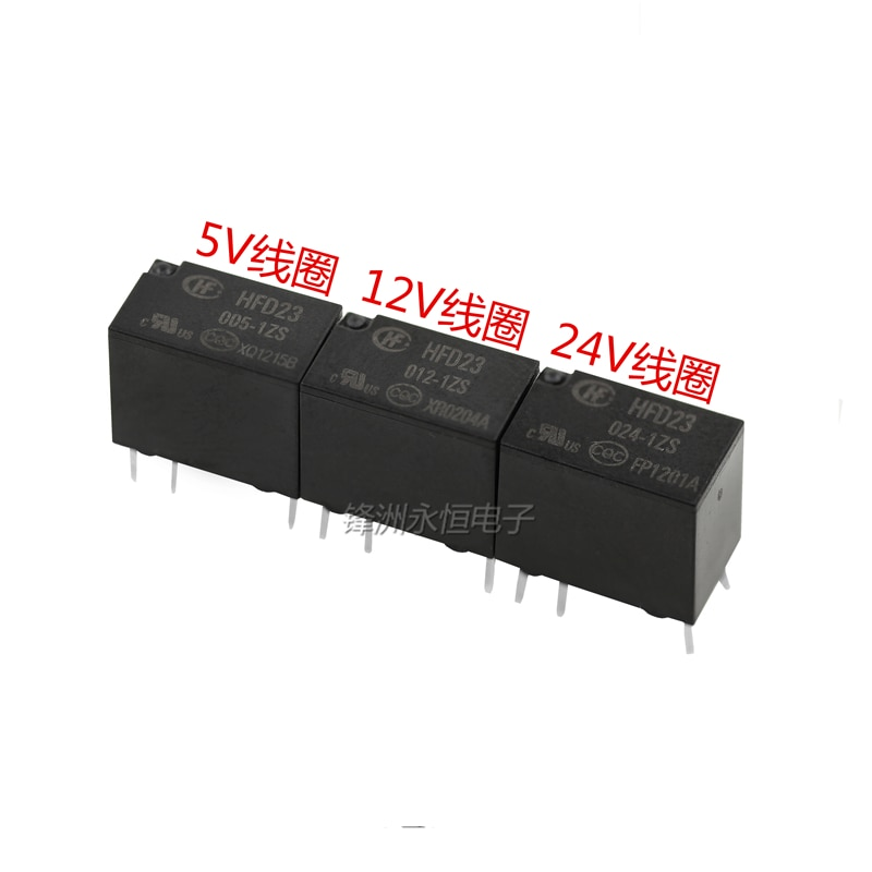 5 Pçs/lote NOVO Relé JRC-23F HFD23-005-1ZS 5VDC HFD23-012-1ZS 12VDC HFD23-024-1ZS 24VDC 1A 6PIN Sensível