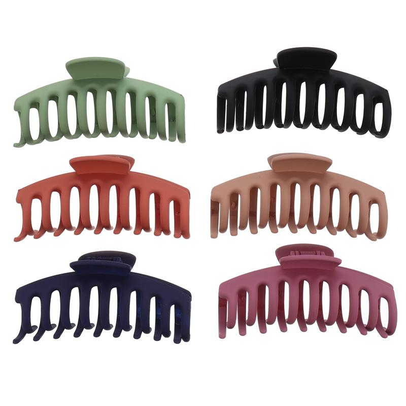 6 pçs grande garra de cabelo grampos de chuveiro barrettes maxila clipes acessórios para cabelo feminino