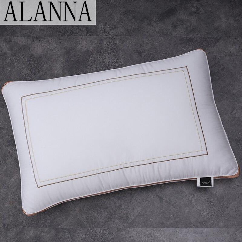 Alanna cmz04 algodão puro travesseiro pescoço proteção lenta recuperação em forma travesseiro maternidade para dormir almofadas ortopédicas 50*70cm