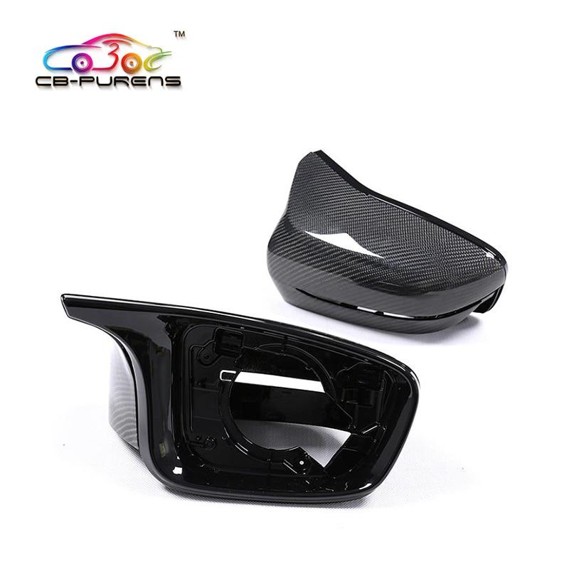 Cubierta de espejo lateral de fibra de carbono para BMW 5 Series G30 G38 6 Series GT G32 7 Series G11 G12 2017-2019 LHD, F90 M5 Look