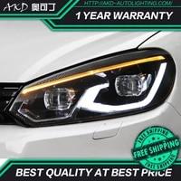 akd car styling head lamp for vw golf 6 headlights 2009 2012 golf 6 led headlight drl signal lamp hid bi xenon auto accessories