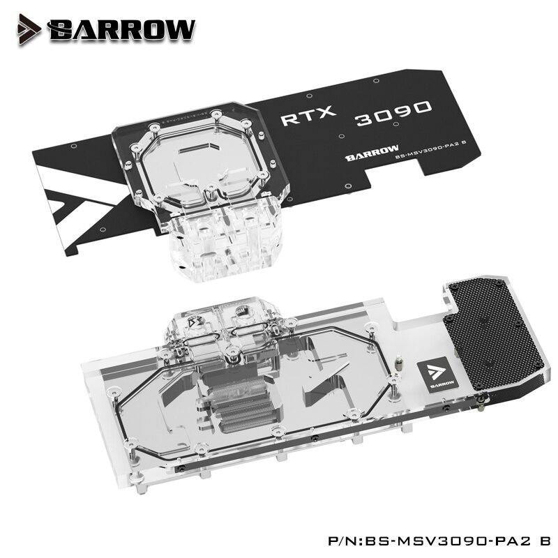 بارو النشطة التبريد كتلة المياه استخدام ل MSI RTX 3090 VENTUS 3X OC 24G / 3080 TI VENTUS 3X 10G 12G OC GPU بطاقة BS-MSV3090-PA2 B