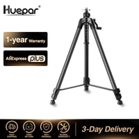 huepar 1 6m laser level tripod aluminum flat head adjustable height tripod stand with handle bubble for self leveling level