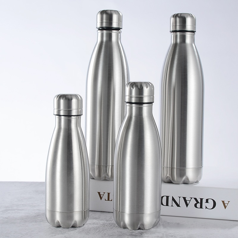 Stainless Steel Sports Water Bottle Sturdy And Durable Multi-Purpose Portable Leak-Proof Water Bottl