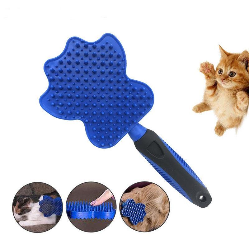 Pet profesional aseo herramienta suave peine cepillo de limpieza magia perro gato masaje planeador perro cepillado de pelo cepillo