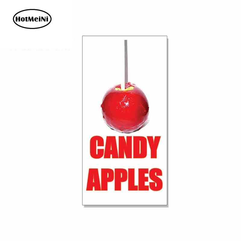 HotMeiNi 13cm x 6,7 cm para las manzanas dulces Feria de comida restaurante coche divertido pegatinas de vinilo casco JDM RV VAN accesorios de coche