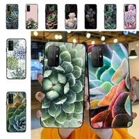 yndfcnb beautiful succulent plants phone case for huawei honor 8x c 9 10 i lite play view 10 20 30 5a nova 3 i