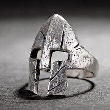 Мужские кольца-маски на шлем героя из спартанов в стиле ретро, модные украшения, крутые байкерские кольца в стиле панк-рок для мужчин