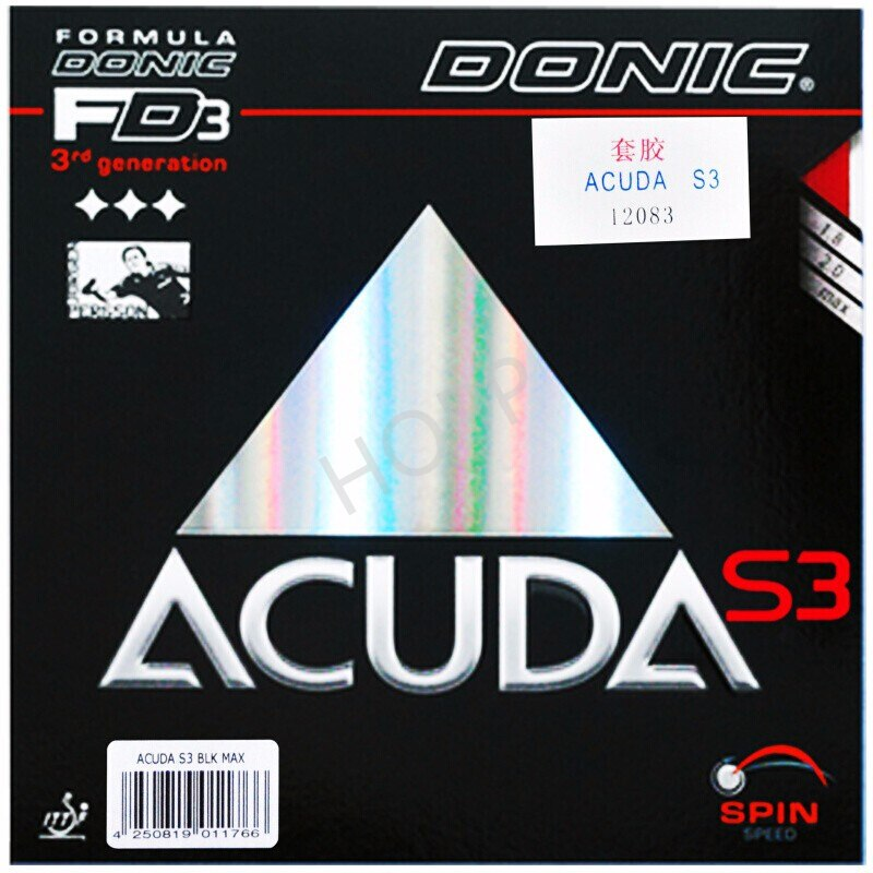 DONIC ACUDA S3 Table Tennis Rubber Made in Germany Spin All-around pimples in with sponge ping pong tenis de mesa