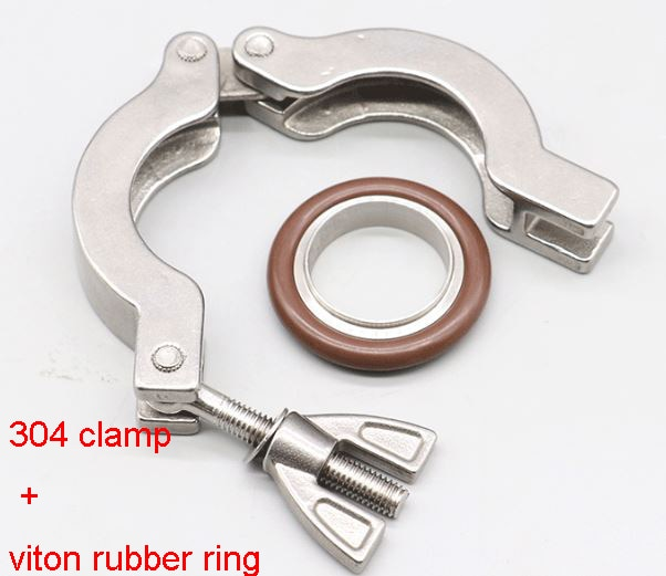 Vacío rápido tri clamp 304 cierre de acero inoxidable con soporte viton FKM soporte KF16/10/25/40/50