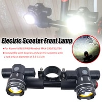 150lm led waterproof headlight for xiaomi m365proes2es4 electric scooter zoomable 1200mah rechargeable t6 light front lamp