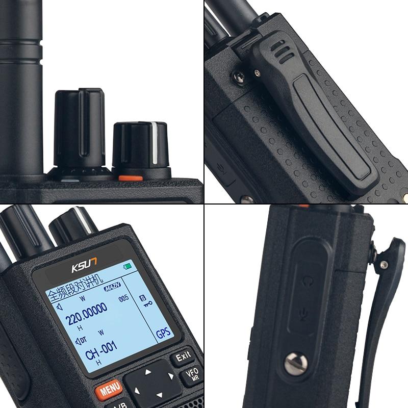 KSUN Walkie Talkie Outdoor 10W High Power Full Screen Segment GPS Positioning Multifunctional Dual Segment Color Screen X-UV98D enlarge