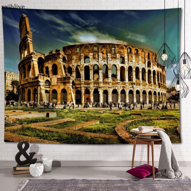 Ancient Roman Classical Art Architecture Custom HD Tapestry For Carpet Travel Mattress Wall Carpets Home Decor 100x150cm