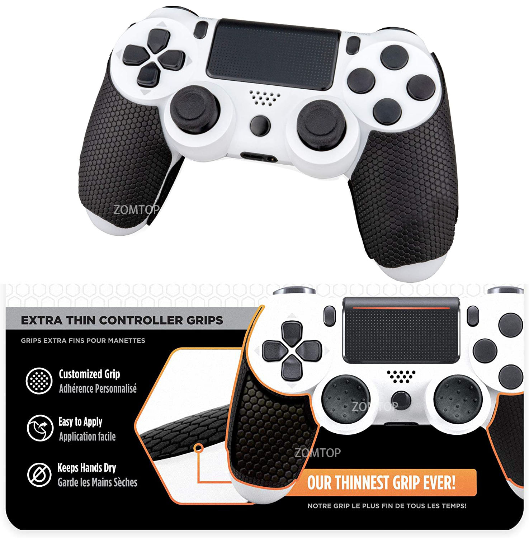 ZOMTOP Console Grip Sticker Set Anti-slip Silicone Video Game Sticker Gamepad Accessories Kit for PS