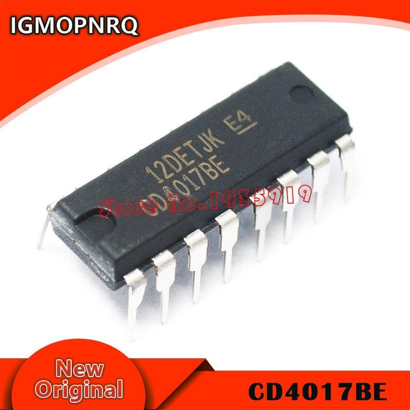 10 unids/lote CD4017 CD4017B DIP-16 CD4017BE DIP 4017 IC original nuevo envío gratis
