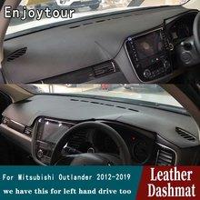Mitsubishi Outlander 2012 2013 2014 2015 2016 2018 2019   Tapis de bord en cuir, tapis de tableau de bord, voiture RHD