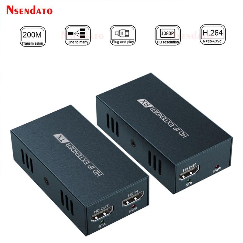 DT236 red IP RJ45 Extensor de HD 200m sobre UTP/STP CAT5 5e...