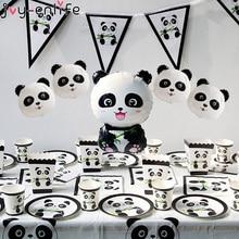 Joy-Enlife 1Pc Panda Birthday Balloons Birthday Party Decoration Kids Bamboo Animal Inflatable Panda