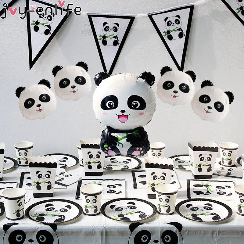 1 unidad de globos de Panda de cumpleaños de Joy-Enlife, decoración de fiesta de cumpleaños para niños, Animal de bosque de bambú, globo inflable para fiesta de bienvenida de bebé
